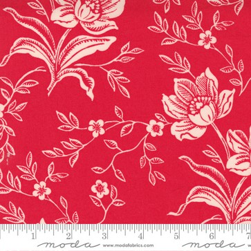 "108"" Woodcut Floral Red"