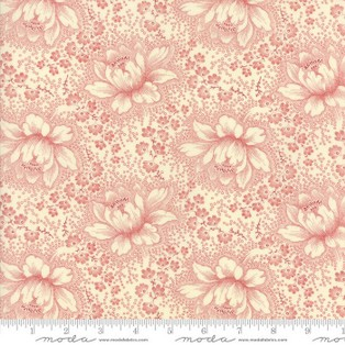 Etched Floral - Ivory/Red 14850 13