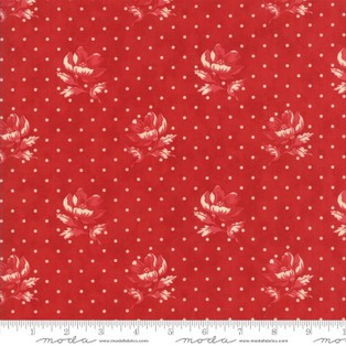 Farmhouse Reds Red Polka Dots & Flowers 14851-11