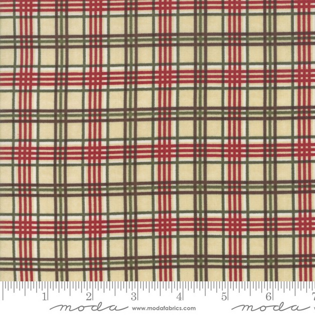 Winter Manor Buff Plaid by Holly Taylor for Moda 6776-12
