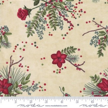 Moda Winter Manor 6771 12 Buff Manor Floral By The Yard