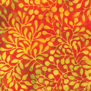 Carnival Batiks Blaze Leaf Spray 4348-23