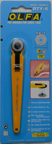 OLFA rotary cutter, 18 mm