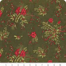 Moda Winter Manor 6771 14 Pine Manor Floral By The Yard