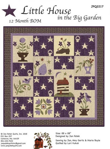 Little House in the Big Garden BOM Quilt Pattern